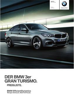 BMW 3er Gran Turismo Preisliste 2014