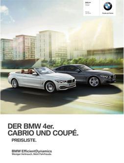 BMW 4er Cabrio & Coupe Preisliste 2014