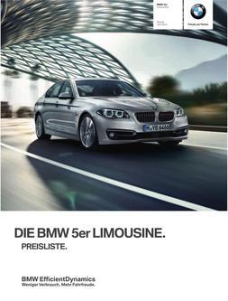 BMW 5er Limousine Preisliste 2014