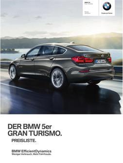 BMW 5er Gran Turismo Preisliste 2014