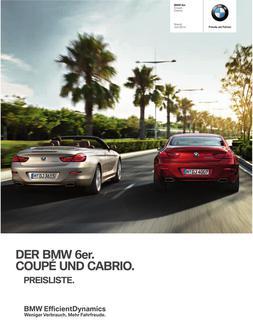 BMW 6er Coupe & Cabrio Preisliste 2014
