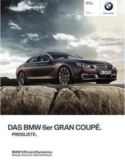 BMW 6er Gran Coupe Preisliste 2014