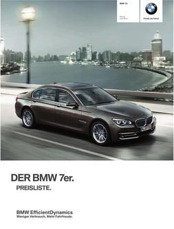 BMW 7er Preisliste 2014