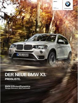 BMW X3 Preisliste 2014
