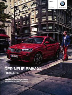 BMW X4 Preisliste 2014