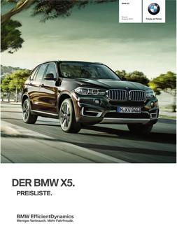 BMW X5 Preisliste 2014