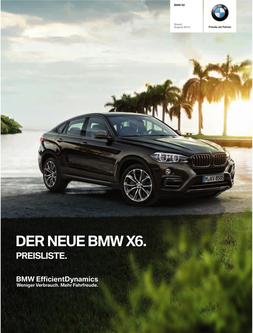 BMW X6 2014 Preisliste
