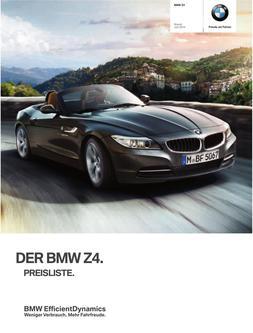 BMW Z4 Preisliste 2014