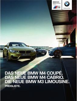 BMW M4 Coupe/Cabrio & M3 Limousine Preisliste 2014