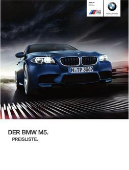 BMW M5 Preisliste 2014