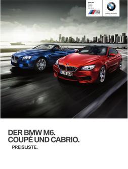 BMW M6Coupe & Cabrio Preisliste 2014
