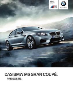 BMW M6 Gran Coupe Preisliste 2014