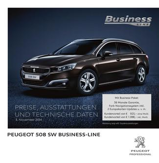 Peugeot 508 SW Business-Line Preisliste 3. November 2014