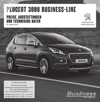 Preisliste 3008 Business-Line 2015