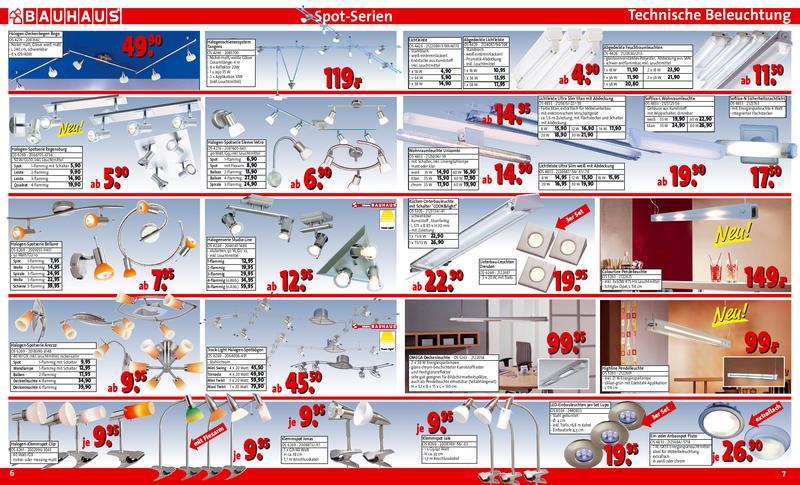 Bauhaus Spot Serien Und Technische Beleuchtung 2006 Von Bauhaus